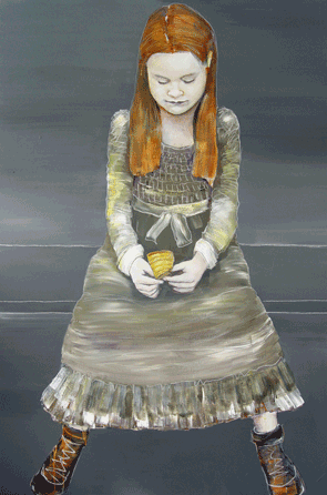 Girl with Red Hair on a Bench (2012)